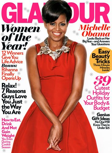 Michelle Obama Glamour Magazine Cover December 2009