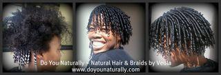 Straw Set on Natural hair