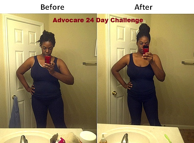 Advocare 24 Day Challenge before and after pictures