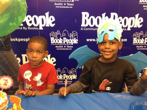Boys at Book People Austin Birthday Party