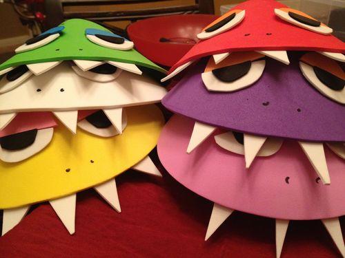 DIY Foam Board Monster Hats