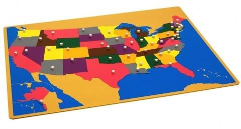 Montessori U.S. Map puzzle