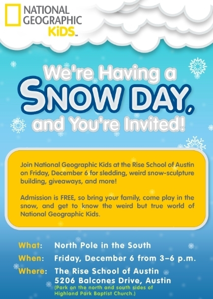 National Geographic Kids Weird But True Town Austin Snow Day