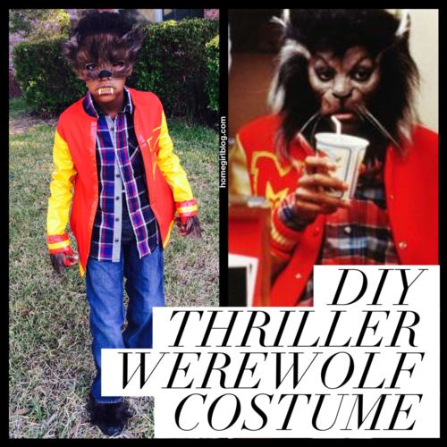 DIY Thriller Werewolf costume